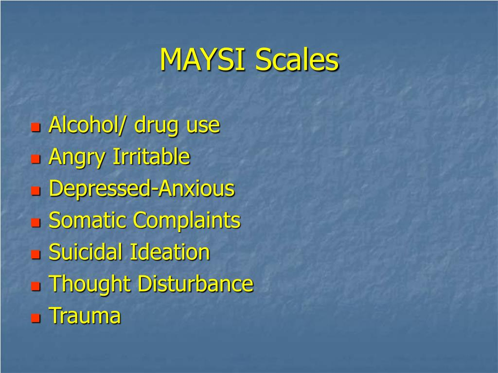 MAYSI Scales