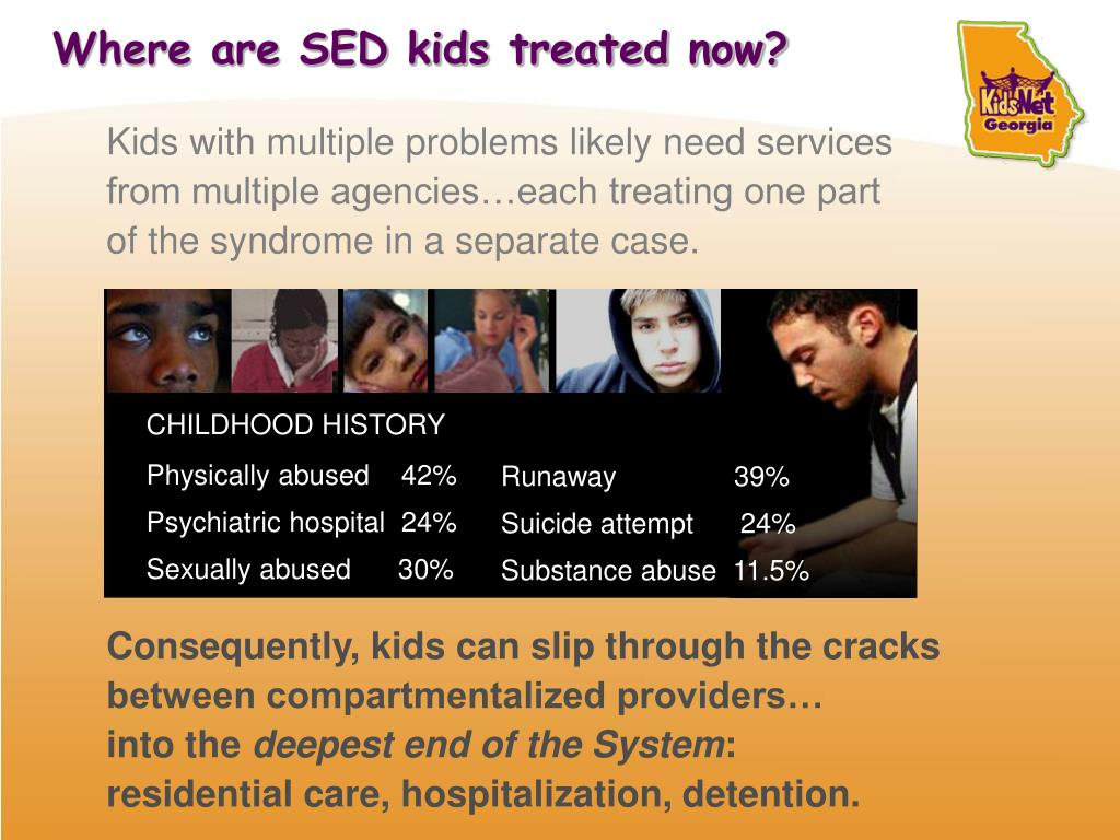 Where are SED kids treated now?