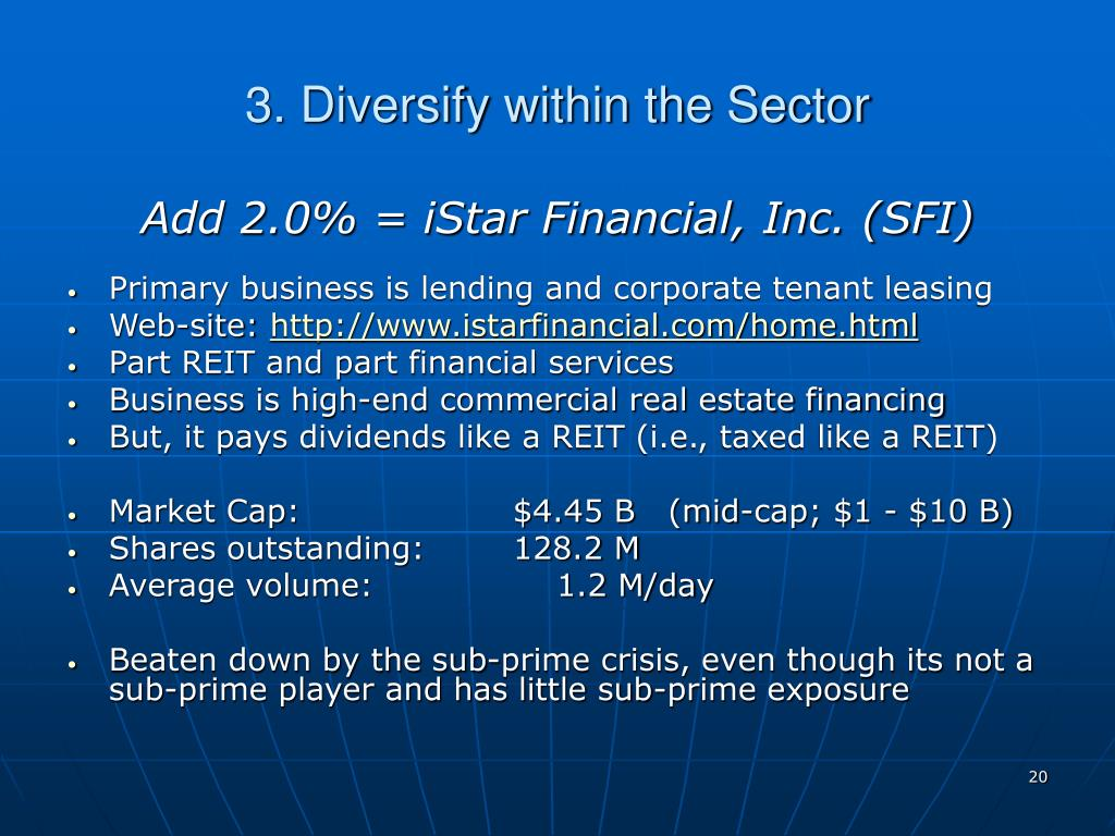 3. Diversify within the Sector
