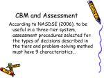 cbm and assessment