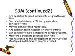 cbm continued2