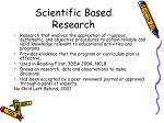 scientific based research