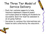 the three tier model of service delivery