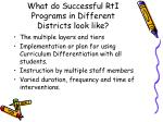 what do successful rti programs in different districts look like