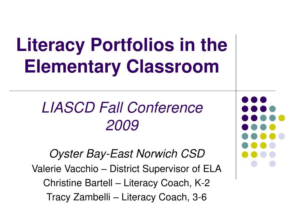 Literacy Portfolios in the Elementary Classroom