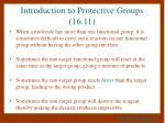 introduction to protective groups 16 11