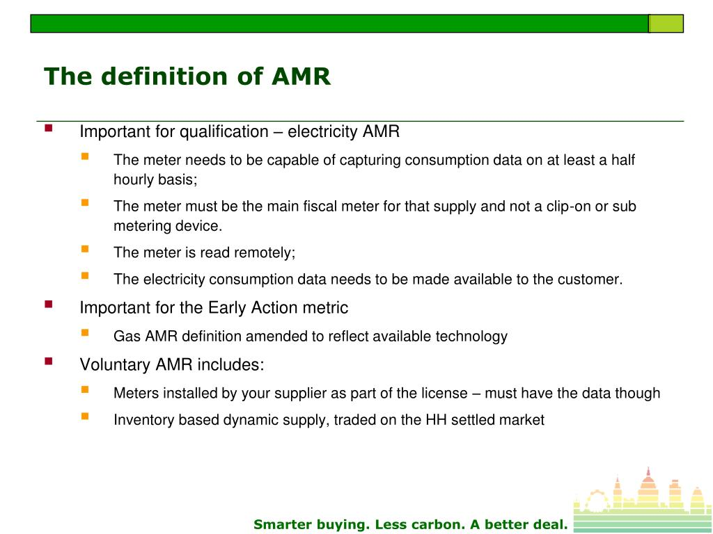The definition of AMR