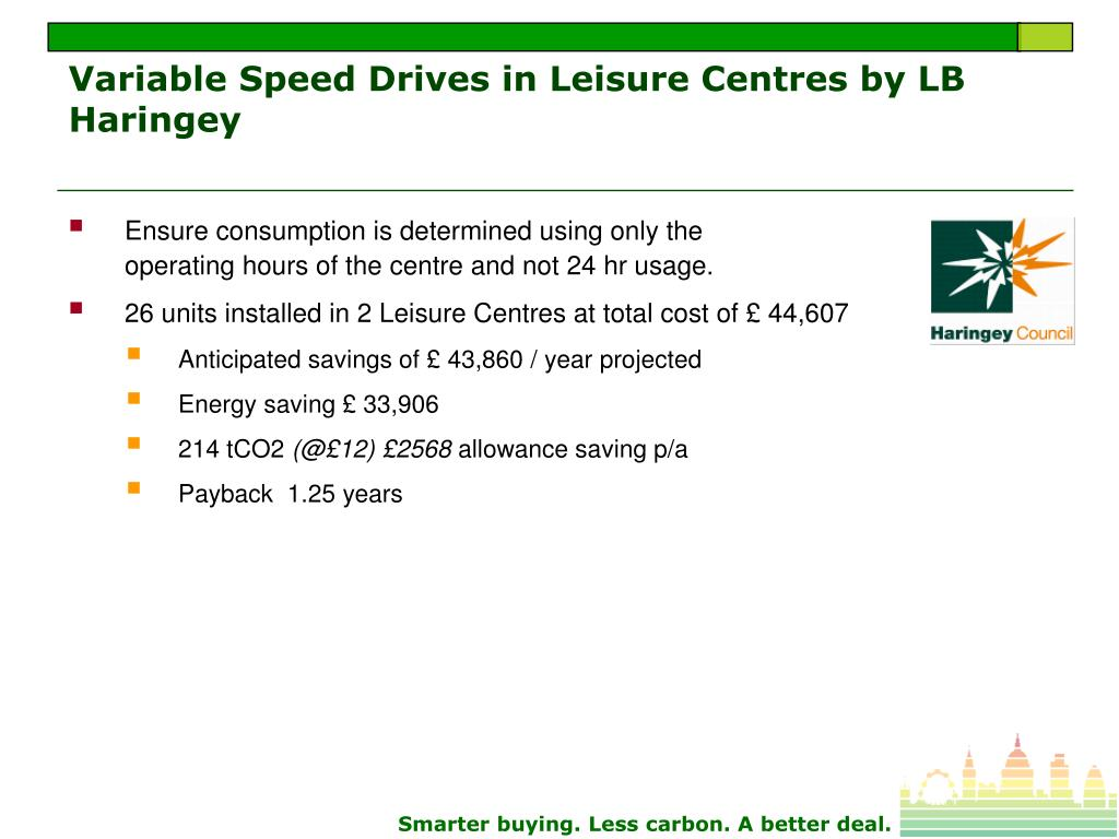 Variable Speed Drives in Leisure Centres by LB Haringey