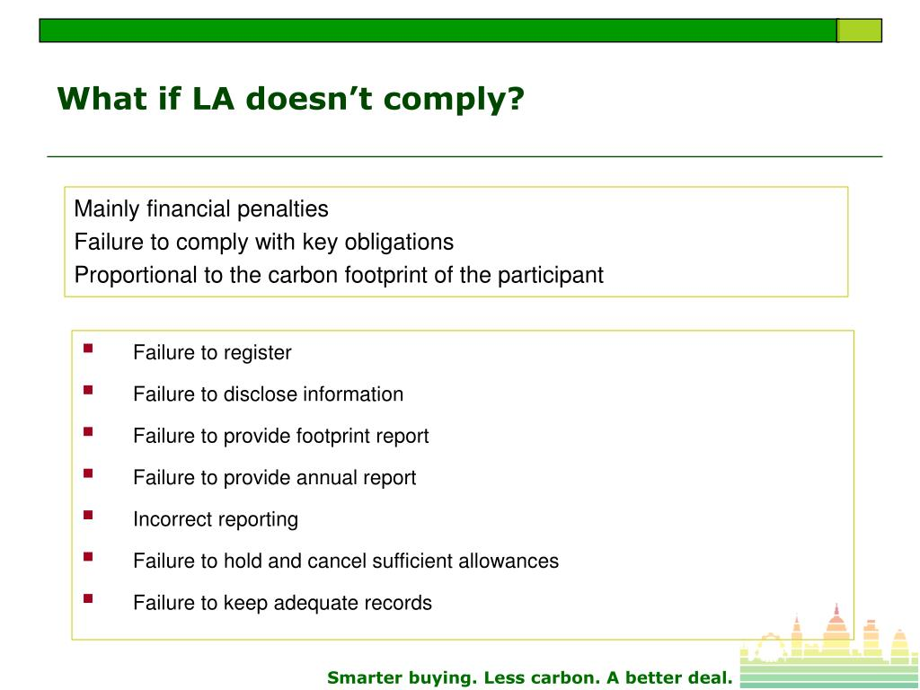 What if LA doesn't comply?