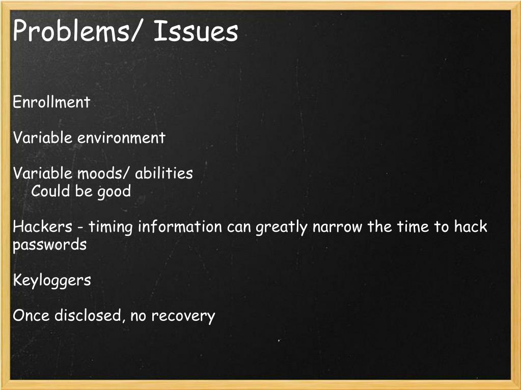Problems/ Issues