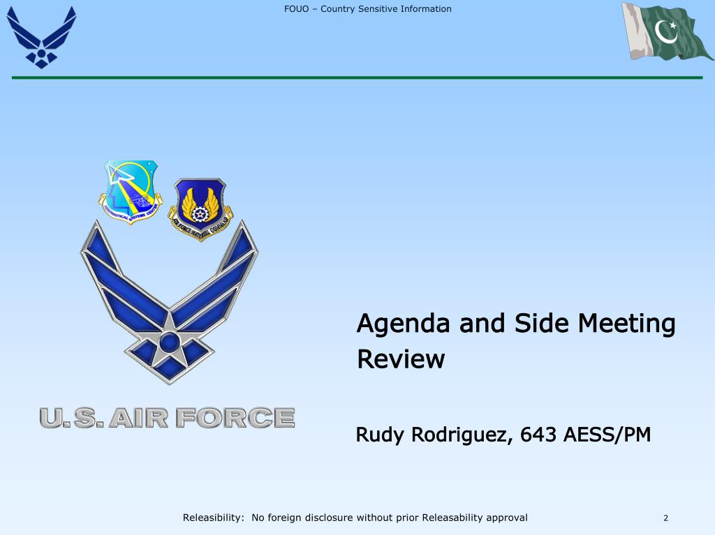 Agenda and Side Meeting Review