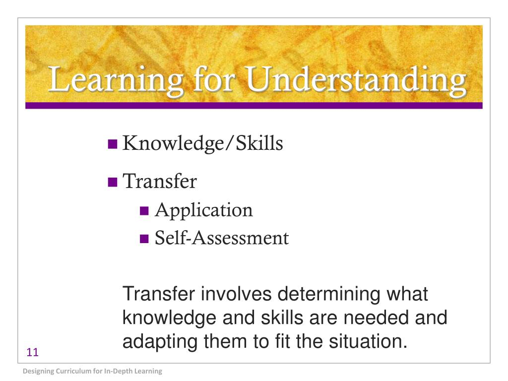 Learning for Understanding