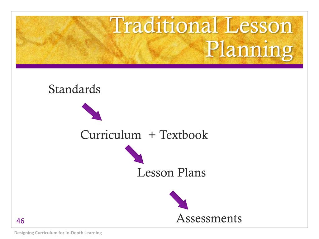 Traditional Lesson Planning