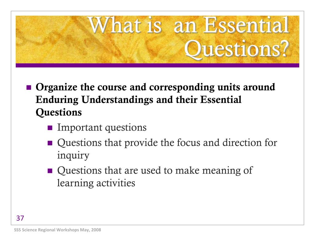 What is  an Essential Questions?