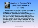 addition in senate idea reauthorization bill s 1248