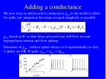 adding a conductance