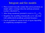 integrate and fire models