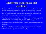 membrane capacitance and resistance