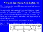 voltage dependent conductances