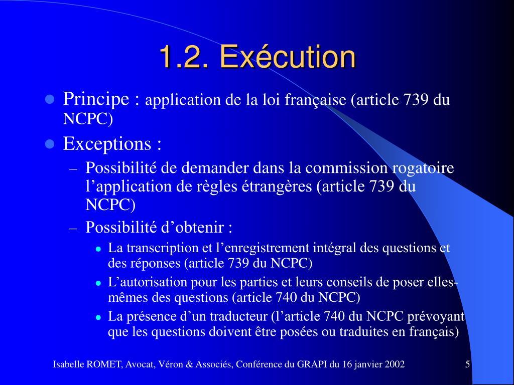 1.2. Exécution