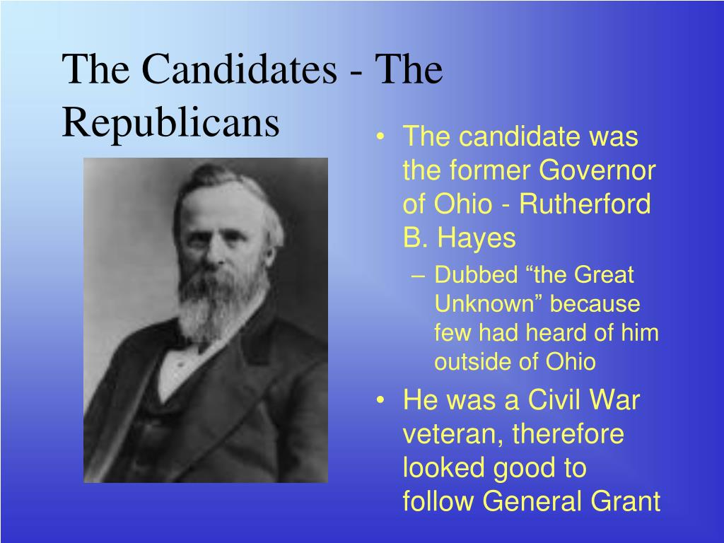 The Candidates - The Republicans