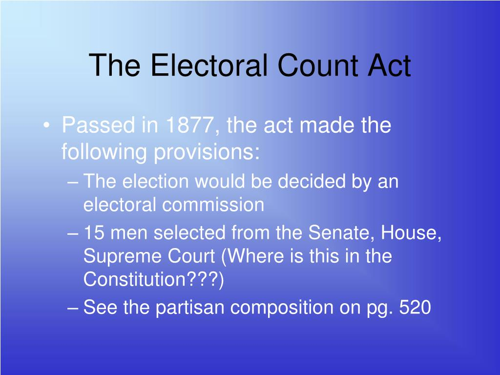 The Electoral Count Act