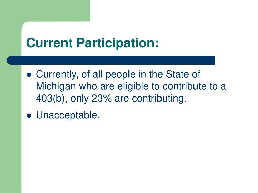 Current Participation: