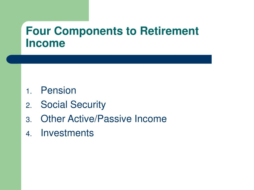 Four Components to Retirement Income