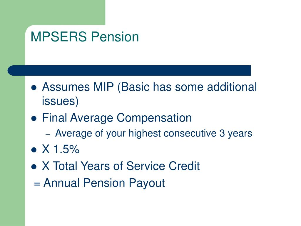 MPSERS Pension