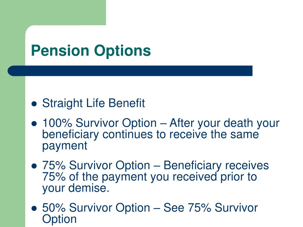 Pension Options