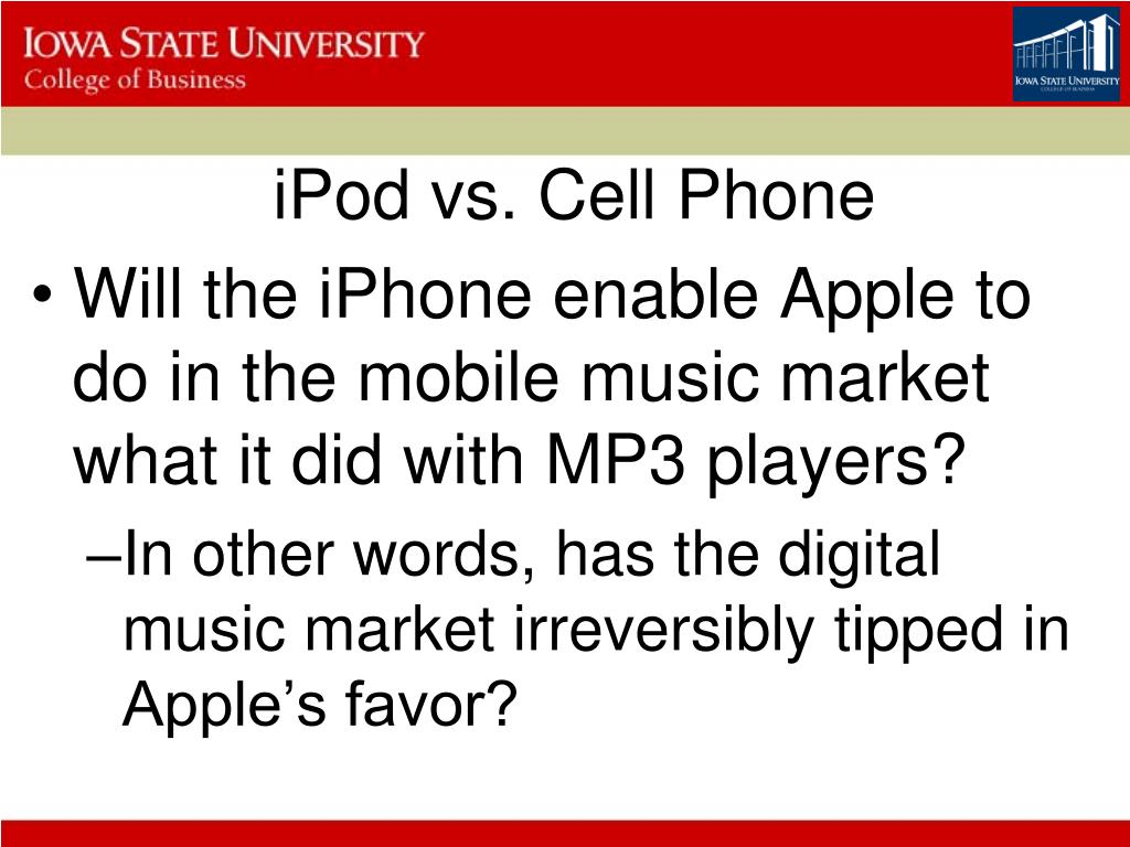 iPod vs. Cell Phone