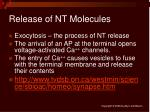 release of nt molecules