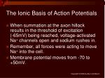 the ionic basis of action potentials