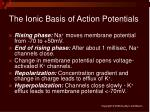 the ionic basis of action potentials21