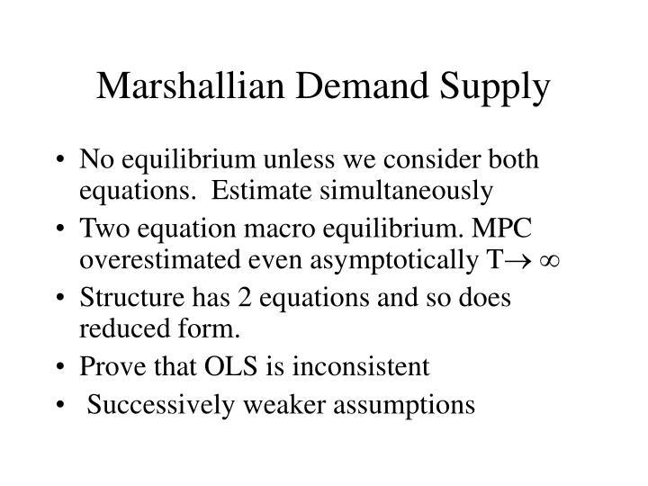 Marshallian demand supply