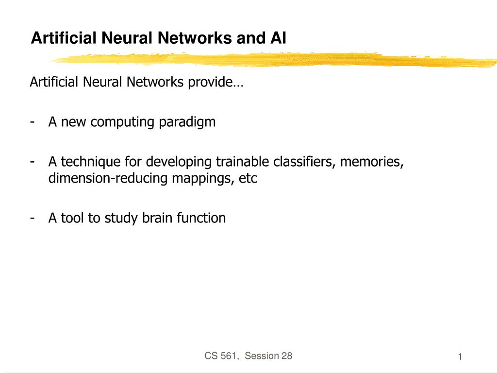 artificial neural networks and ai l.