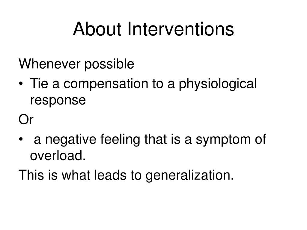 About Interventions