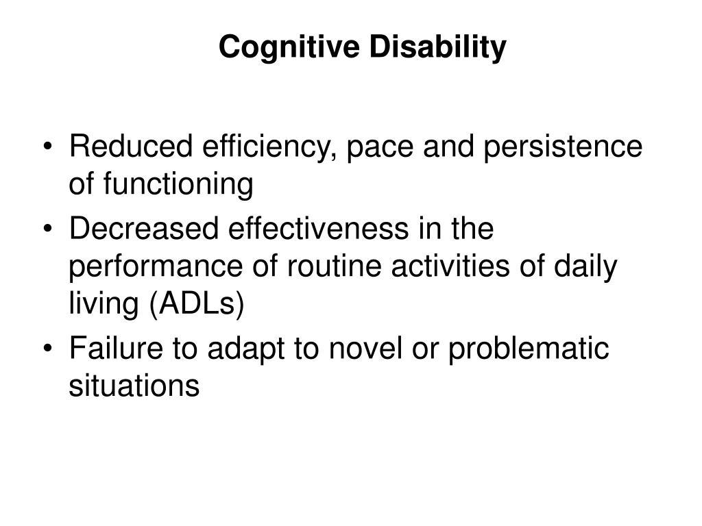 Cognitive Disability