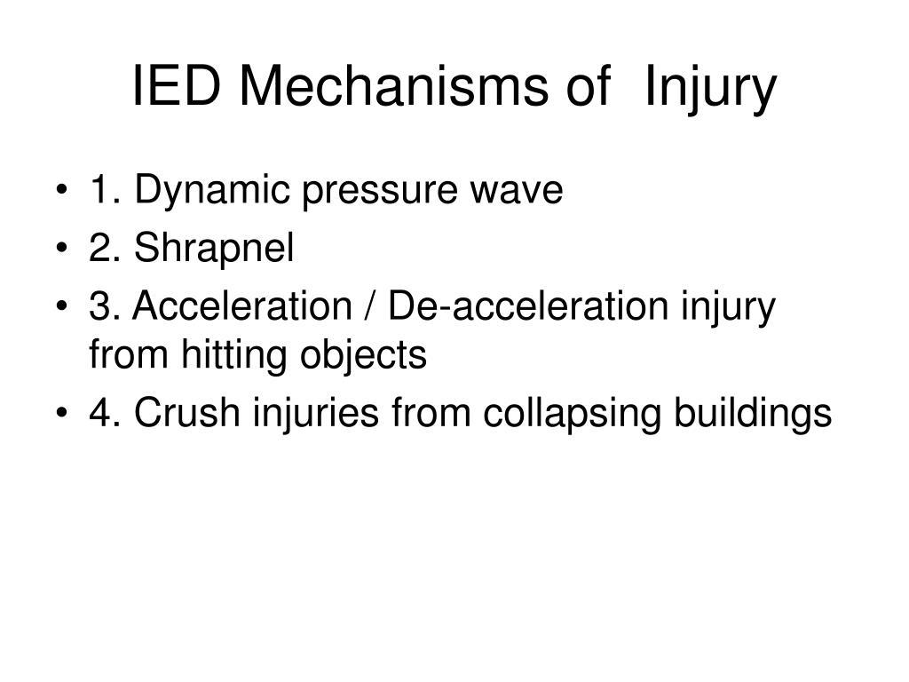 IED Mechanisms of  Injury