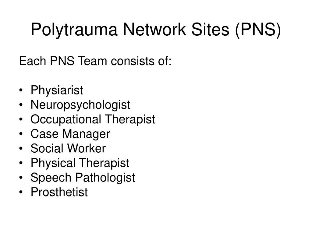 Polytrauma Network Sites (PNS)