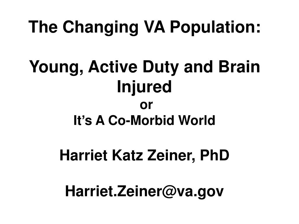 The Changing VA Population: