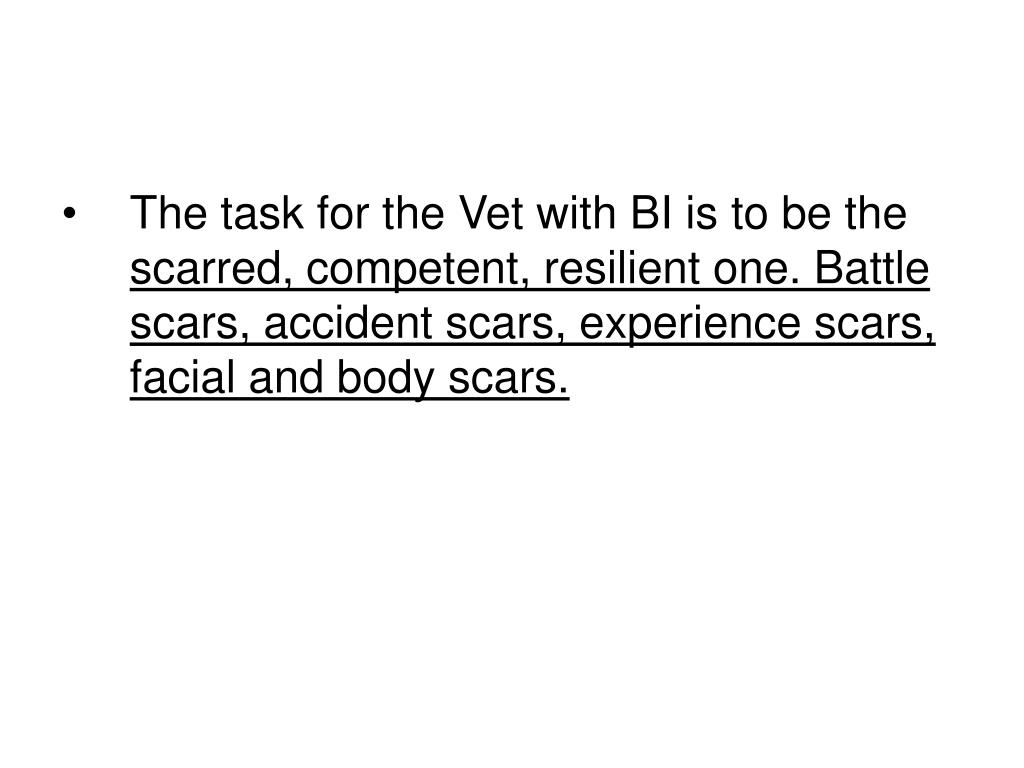 The task for the Vet with BI is to be the
