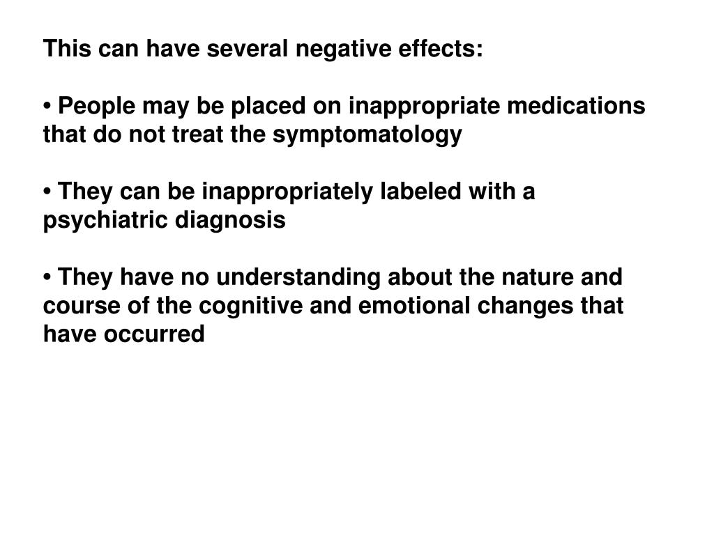 This can have several negative effects: