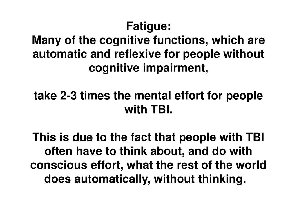 Fatigue: