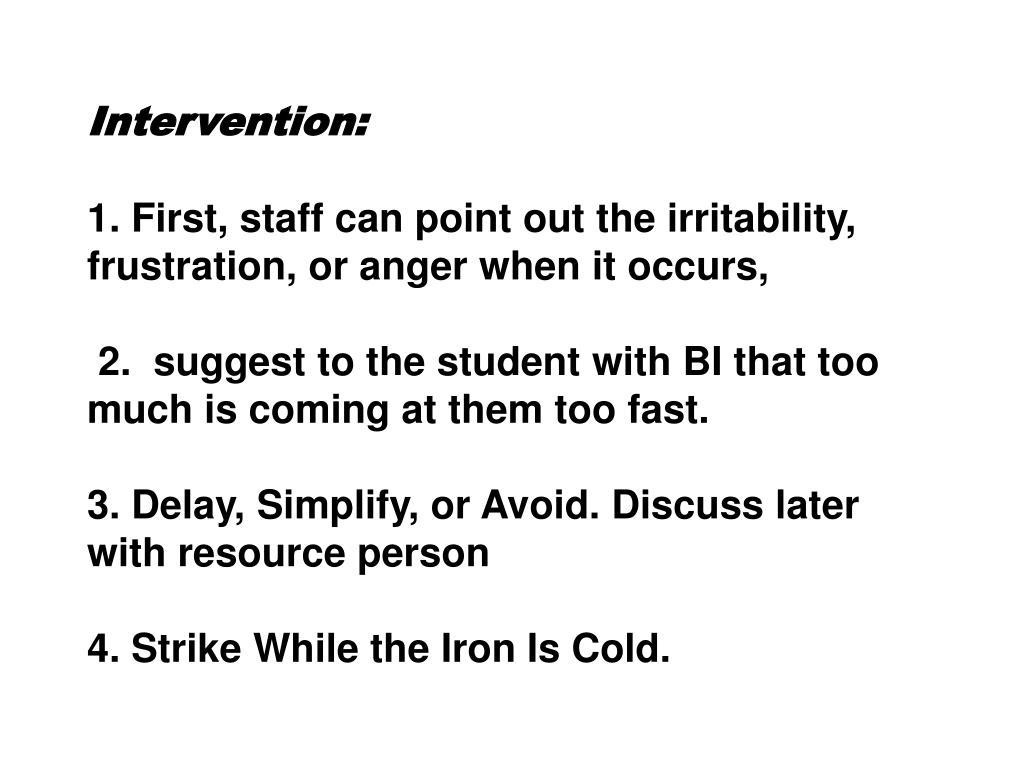 Intervention:
