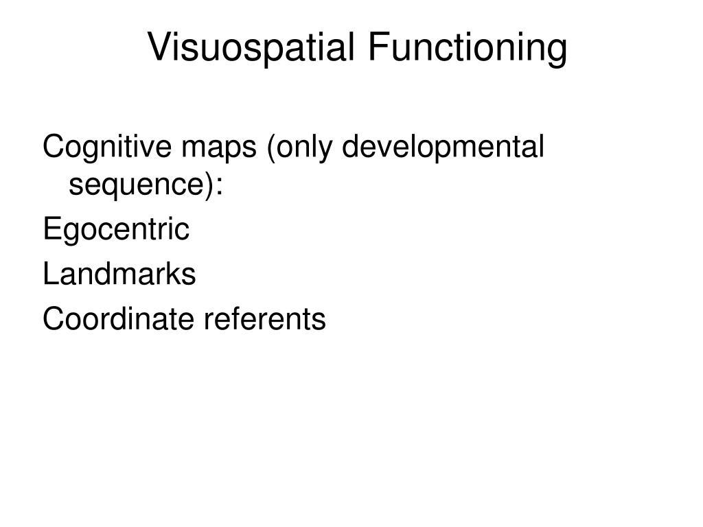 Visuospatial Functioning