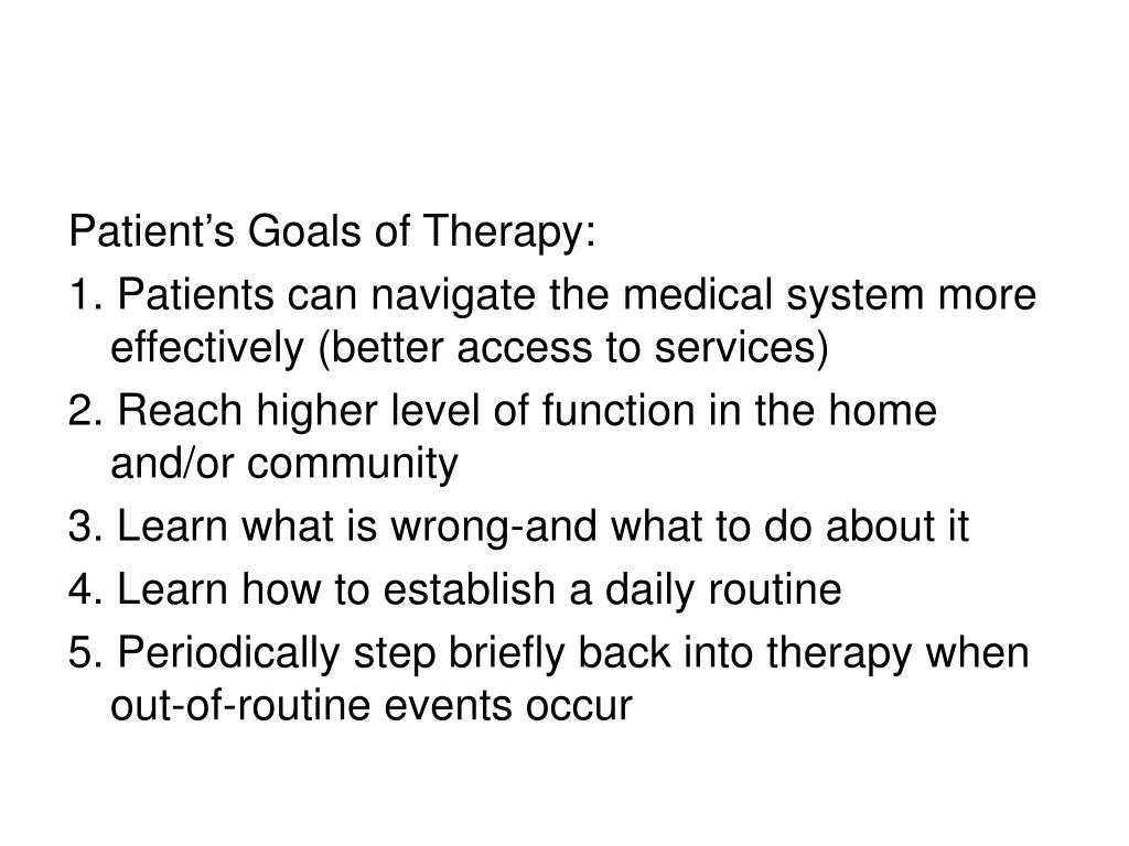 What To Do First In Treatment