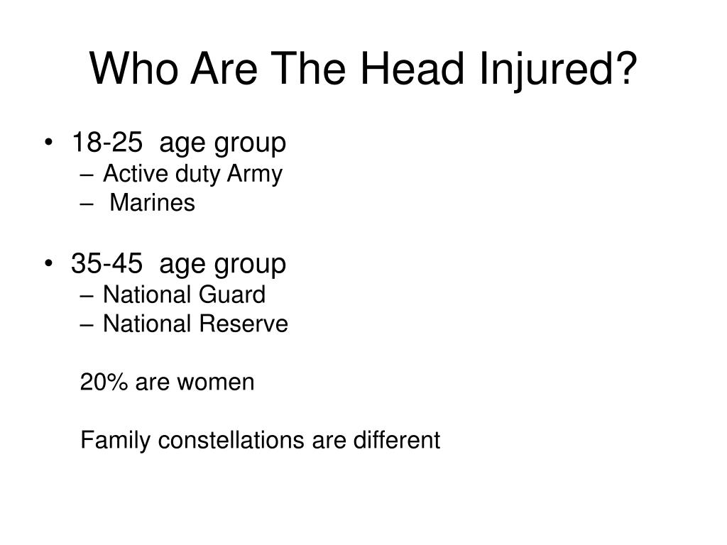 Who Are The Head Injured?