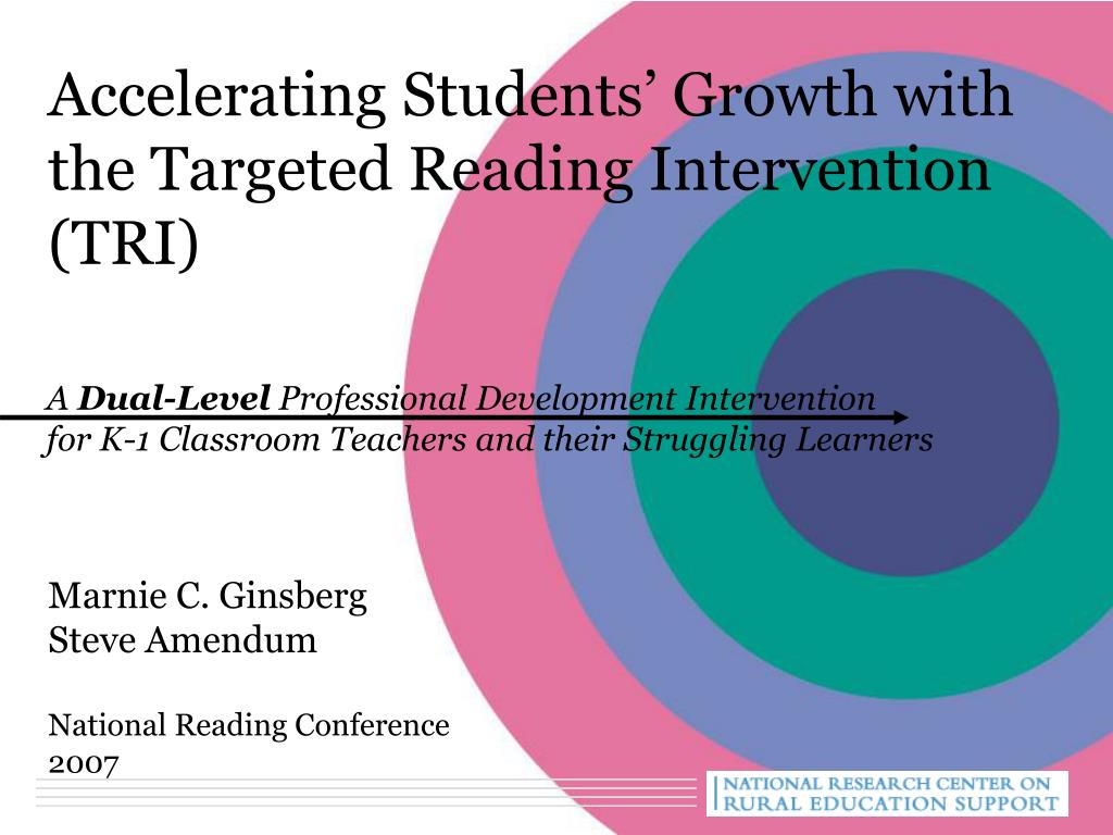 Accelerating Students' Growth with the Targeted Reading Intervention
