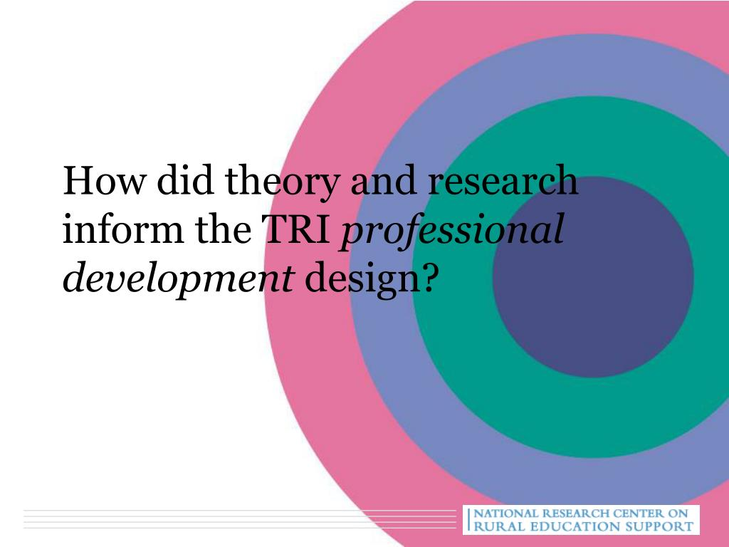 How did theory and research inform the TRI